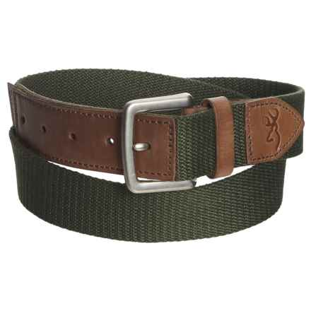 Browning Upland Belt (For Men) in Forest Night/Potting Soil - Closeouts