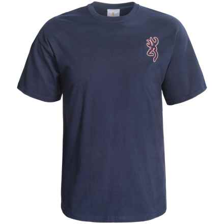 Browning USA T-Shirt - Short Sleeve (For Men) in Navy - Closeouts