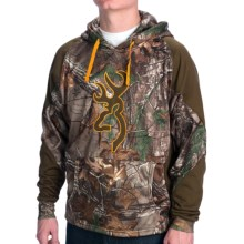 Browning Wasatch 2-Tone Hoodie Sweatshirt (For Men) in Realtree Xtra - Closeouts