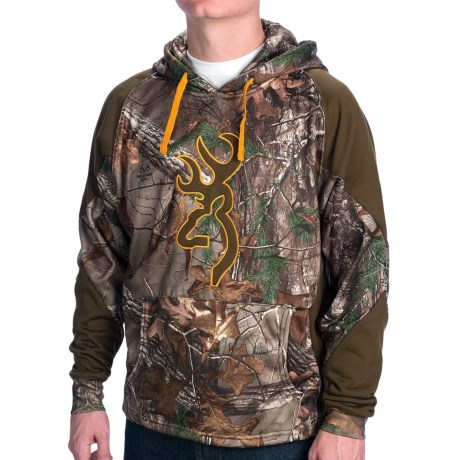 Browning Wasatch 2-Tone Hoodie Sweatshirt (For Men) in Realtree Xtra