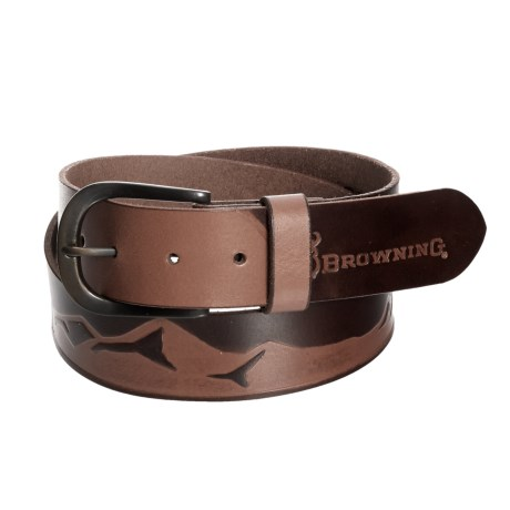 Browning Wasatch Leather Belt (For Men) in Whiskey