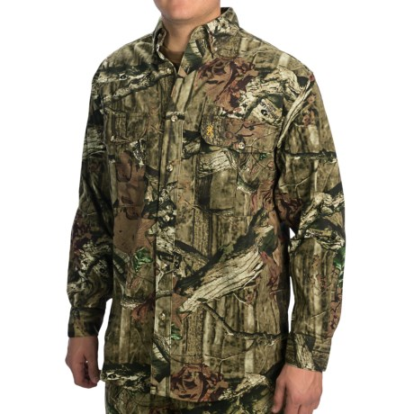 Browning Wasatch Shirt - Button-Down Collar, Long Sleeve (For Big Men) in Mossy Oak Infinity