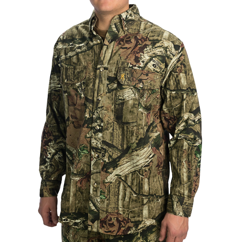Browning Wasatch Shirt Button Down Collar Long Sleeve