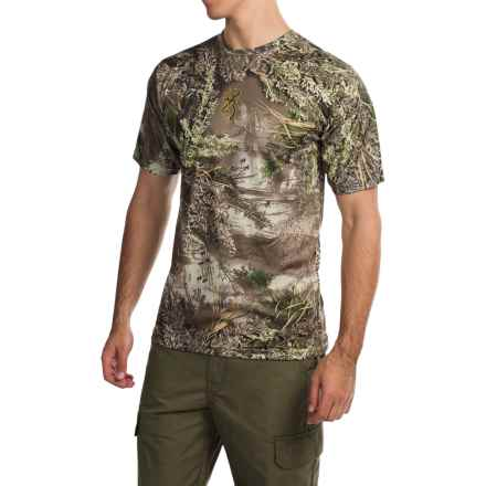 Browning Wasatch Vapor Max Shirt - Short Sleeve (For Big Men) in Realtree Max 1 - Closeouts
