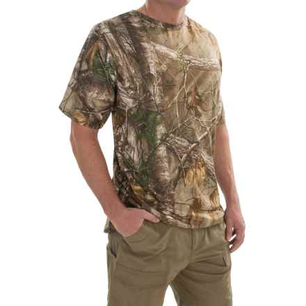 Browning Wasatch Vapor Max Shirt - Short Sleeve (For Big Men) in Realtree Xtra - Closeouts