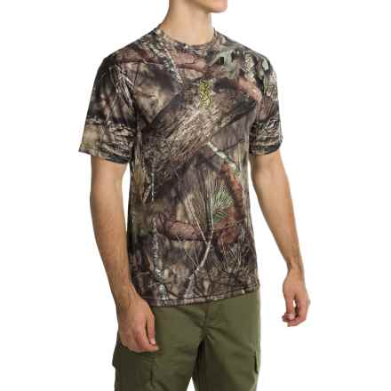Browning Wasatch Vapor Max Shirt - Short Sleeve (For Men) in Mossy Oak Break-Up Country - Closeouts