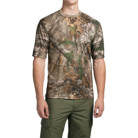 Browning Wasatch Vapor Max Shirt - Short Sleeve (For Men) in Realtree Xtra