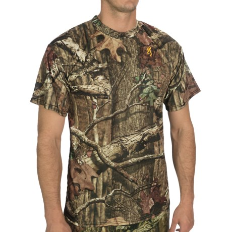 Browning Wasatch Vapor Max T-Shirt - Short Sleeve (For Men) in Mossy Oak Infinity