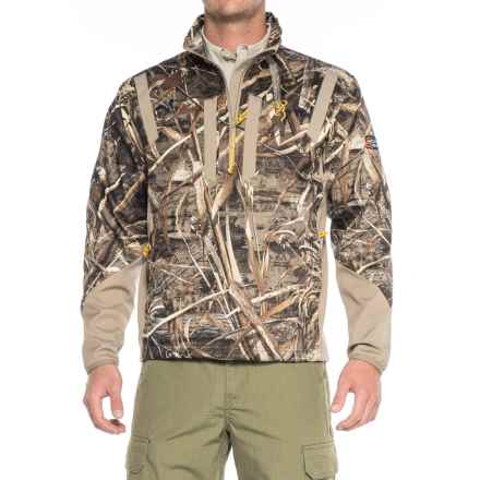 Browning Wicked Wing Soft Shell Jacket - Zip Neck (For Men) in Realtree Max 5 - Closeouts