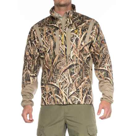 Browning Wicked Wing Soft Shell Pullover Jacket - Zip Neck (For Men) in Mossy Oak Shadow Grass Blades - Closeouts