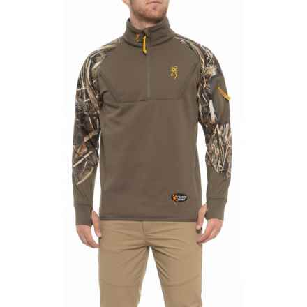 5046e19baa2ee Browning Wicked Wing Timber Fleece Pullover Jacket - Zip Neck (For Men) in  Realtree