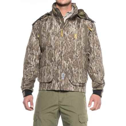 Browning Wicked Wing Timber Wader Hunting Jacket - Waterproof (For Men) in Mossy Oak Bottomland - Closeouts