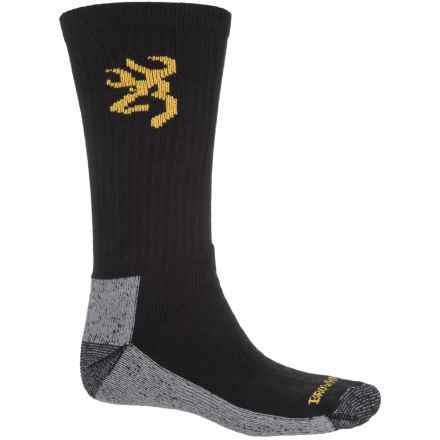 Browning Work Boot Socks - Crew (For Men) in Black - Closeouts