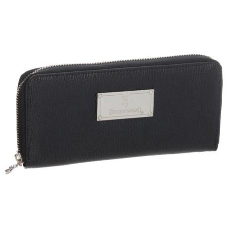 Browning Zip Around Wallet (For Women) in Black