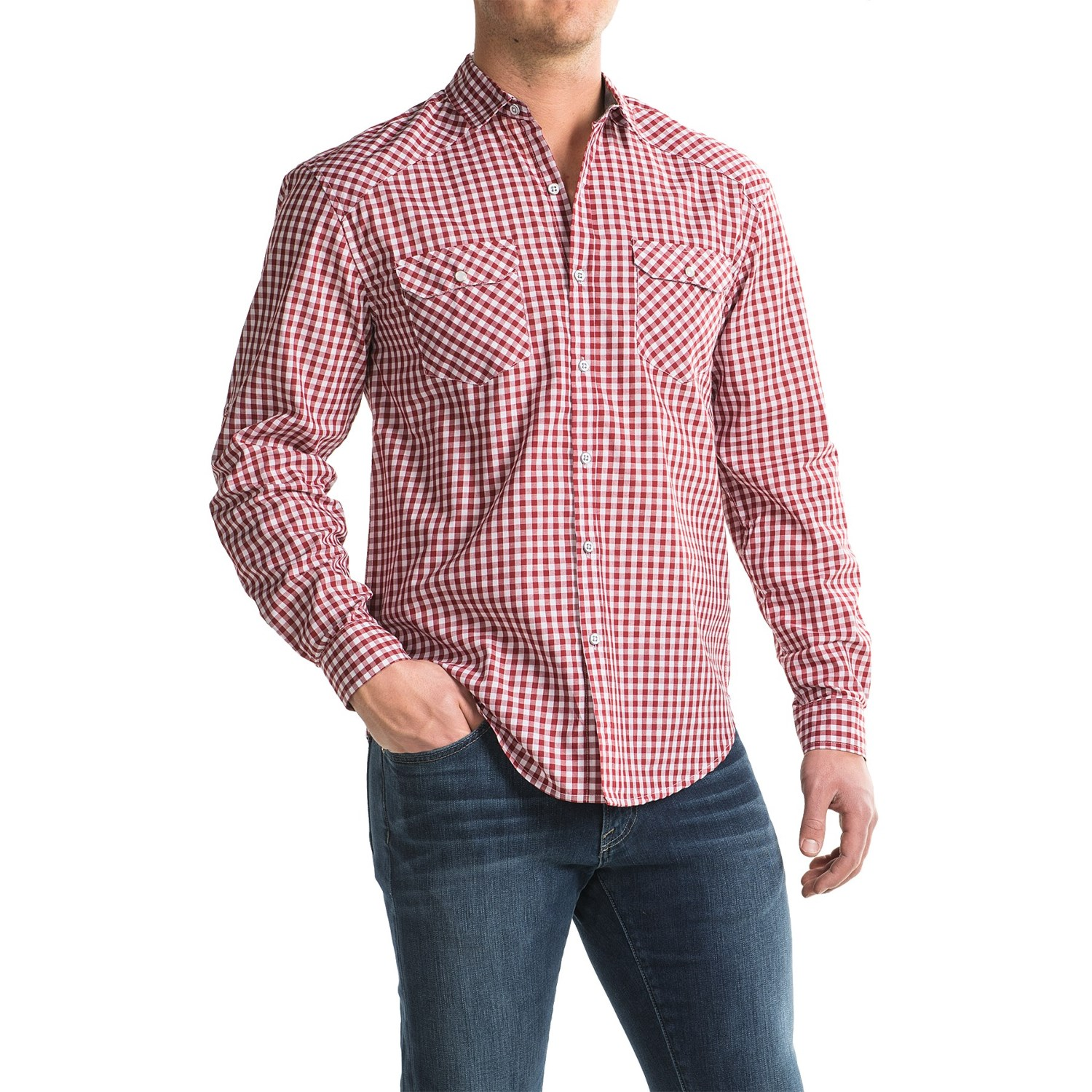 Bruno Gingham Button Up Shirt For Men Save 50