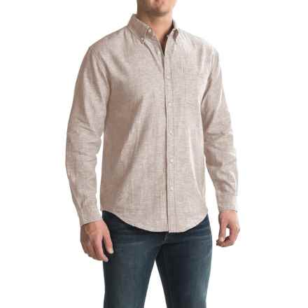 Bruno Linen-Blend Button-Up Shirt - Long Sleeve (For Men) in Flax - Closeouts
