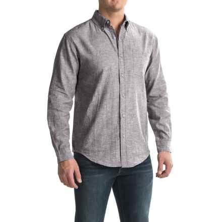 Bruno Linen-Blend Button-Up Shirt - Long Sleeve (For Men) in Med Grey - Closeouts