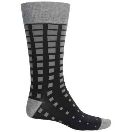 Bruno Magli Squared Socks - Crew (For Men) in Black - Closeouts
