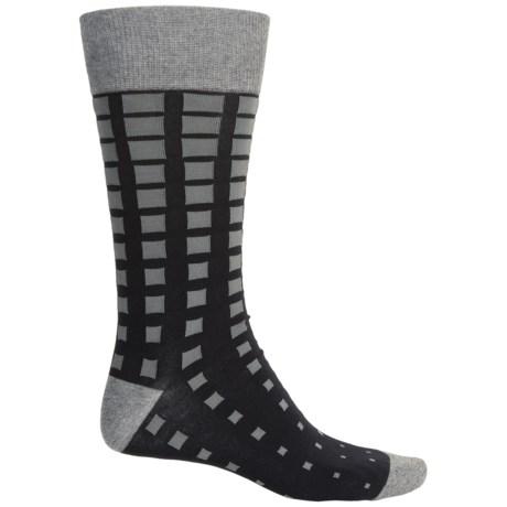 Bruno Magli Squared Socks - Crew (For Men) in Black