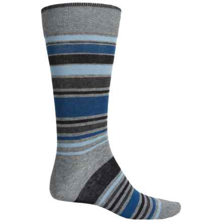 Bruno Magli Striped Socks - Crew (For Men) in Grey - Closeouts