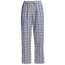 Brushed Cotton Dorm Pants (For Women) in Blue Plaid - 2nds