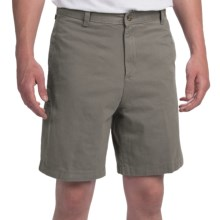 Brushed Cotton Twill Shorts (For Men) in Olive - Closeouts