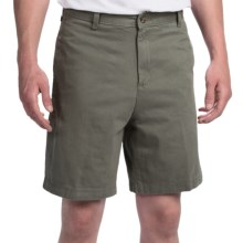Brushed Cotton Twill Shorts (For Men) in Sage - Closeouts
