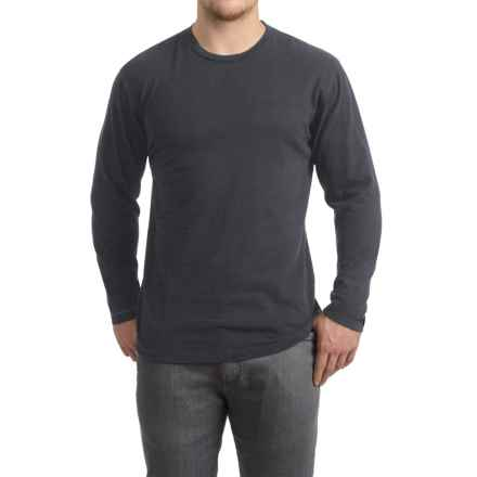 Brushed Crew Neck Shirt - Long Sleeve (For Men) in Charcoal Heather - 2nds