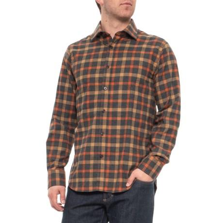 Image of Brushed Multi-Check Shirt - Long Sleeve (For Men)
