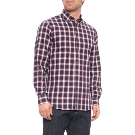 Image of Brushed Windowpane Shirt - Long Sleeve (For Men)