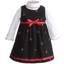 BT Kids Corduroy Jumper and Turtleneck Set - Long Sleeve (For Infant Girls) in Black