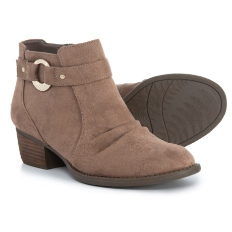 Image of Buckle Strap Ankle Booties (For Women)