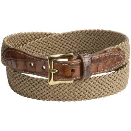 Buckley Woven Stretch Belt (For Men) in British Tan - Closeouts