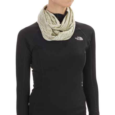 Buff Jacquard Infinity Scarf (For Women) in Sage - Closeouts