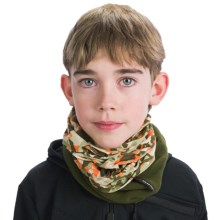 Buff Junior Polar Buff Neck Gaiter - Polartec® Fleece (For Boys and Girls) in New Snow / Military - Closeouts