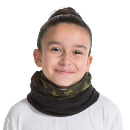Buff Junior Polar Buff Neck Gaiter - Polartec® Fleece (For Little and Big Kids) in Green Hunt - Closeouts