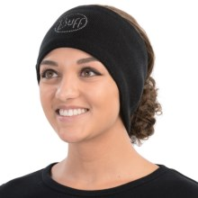 Buff Knit and Polar Fleece Chic Headband (For Men and Women) in Black Chic - Closeouts