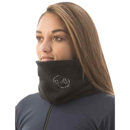 Buff Knit and Polar Fleece Chic Neck Gaiter (For Men and Women) in Black Chic - Closeouts