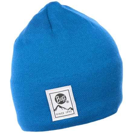 Buff Knit and Polar Hat (For Men and Women) in Blue - Closeouts