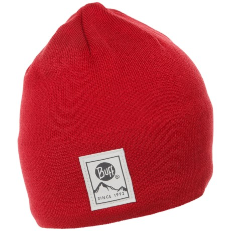 Buff Knit and Polar Hat (For Men and Women) in Red