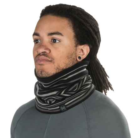 Buff Knit Neck Gaiter - Fleece Lined (For Men and Women) in Laki Black - Closeouts