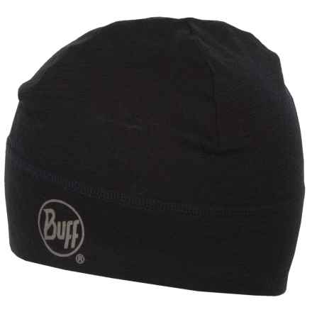Buff Merino Wool Beanie (For Men and Women) in Black - Closeouts