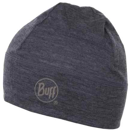 Buff Merino Wool Beanie (For Men and Women) in Grey - Closeouts