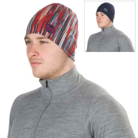 Buff Microfiber Reversible Hat (For Men and Women) in Grey Multi/Blue - Closeouts