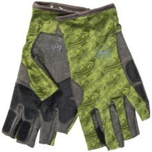 Buff Pro Series Angler 2 Gloves - UPF 50+, Fingerless (For Men and Women) in Skoolin Sage - Closeouts