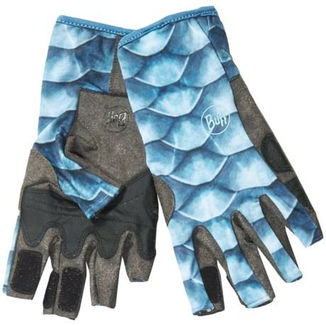 Buff pro series angler 2 fishing guide sun gloves upf 50 for Buff fishing gloves