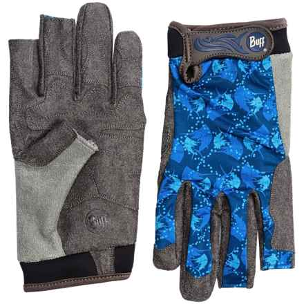 Buff Pro Series Fighting Work 2 Gloves - UPF 50+, Fingerless (For Men and Women) in Billfish - Closeouts