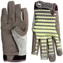 Buff Pro Series Fighting Work 2 Gloves - UPF 50+, Fingerless (For Men and Women) in Variegate Charcoal/Lime - Closeouts