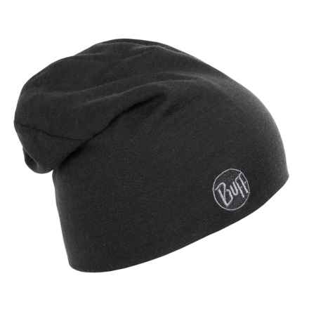 Buff Thermal Beanie - Merino Wool (For Men and Women) in Black - Closeouts
