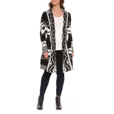 Buffalo Black Multi Azteca Sweater (For Women) in Black Multi - Closeouts